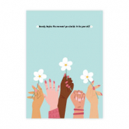 "Tarjetas para joyería Girls Support Girls""beauty begins"" Azul tiffany donación del 50% a Free a Girl"