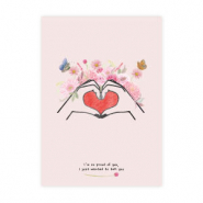 "Tarjetas para joyería Girls Support Girls ""proud of you"" Rosa bronceado donación del 50% a Free a Girl"