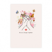 "Tarjetas para joyería Girls Support Girls ""stronger together"" Rosa claro donación del 50% a Free a Girl"