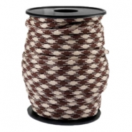Cordón trendy Paracord 4mm beige-marrón cálido